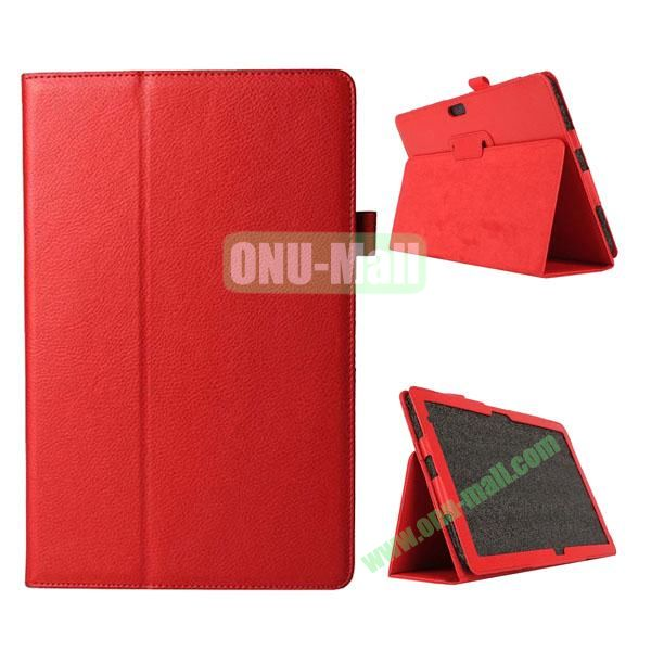 Litchi Texture Flip Stand Leather Case for Dell Venue 11 Pro (Red)