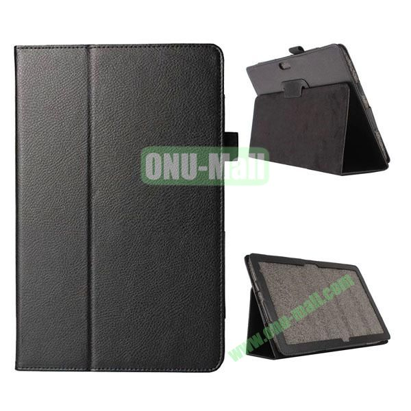 Litchi Texture Flip Stand Leather Case for Dell Venue 11 Pro (Black)