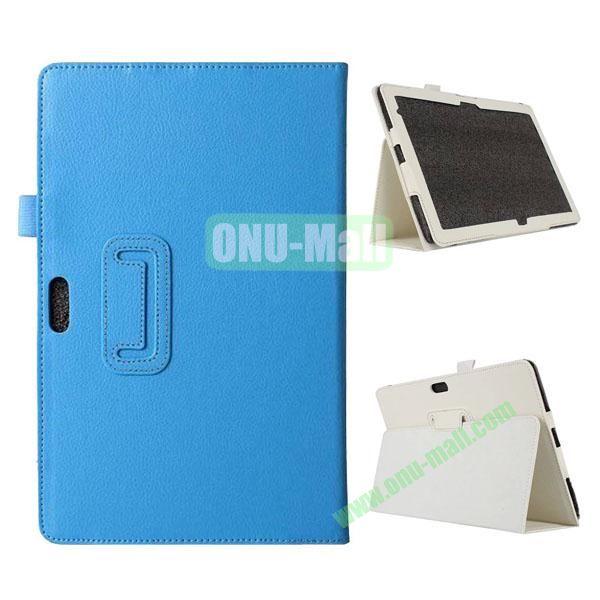 Litchi Texture Flip Stand Leather Case for Dell Venue 11 Pro (Light Blue)