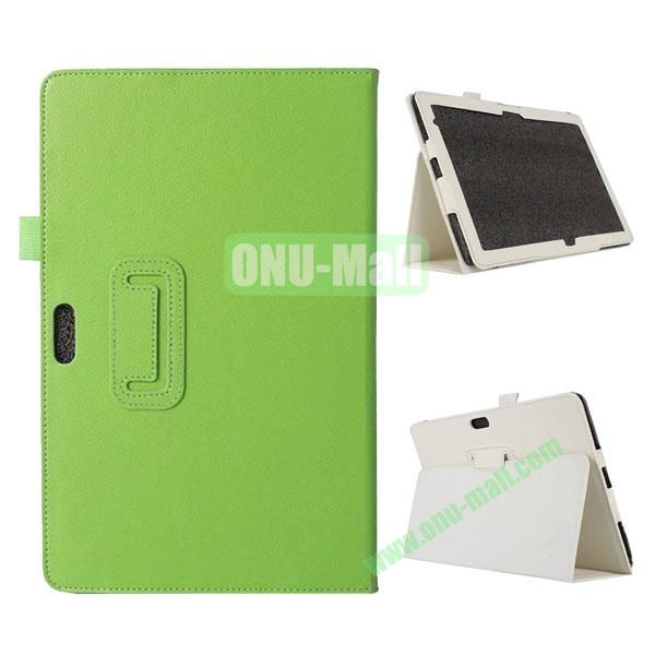 Litchi Texture Flip Stand Leather Case for Dell Venue 11 Pro (Green)