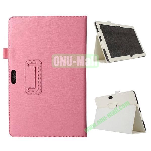 Litchi Texture Flip Stand Leather Case for Dell Venue 11 Pro (Pink)