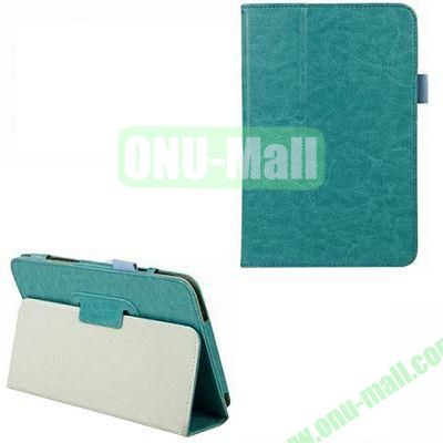 Crazy Horse Texture Leather Case for Dell Venue 8 Pro with Holder (Blue)