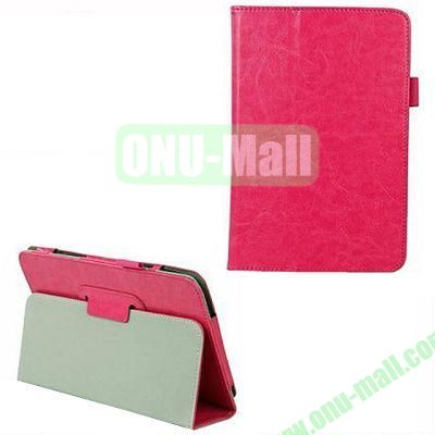 Crazy Horse Texture Leather Case for Dell Venue 8 Pro with Holder (Rose)
