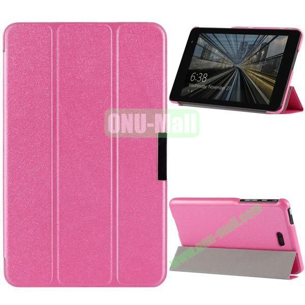 3-folding PU Leather Case Cover with Shinning Powder for Dell Venue 8 Pro (Pink)