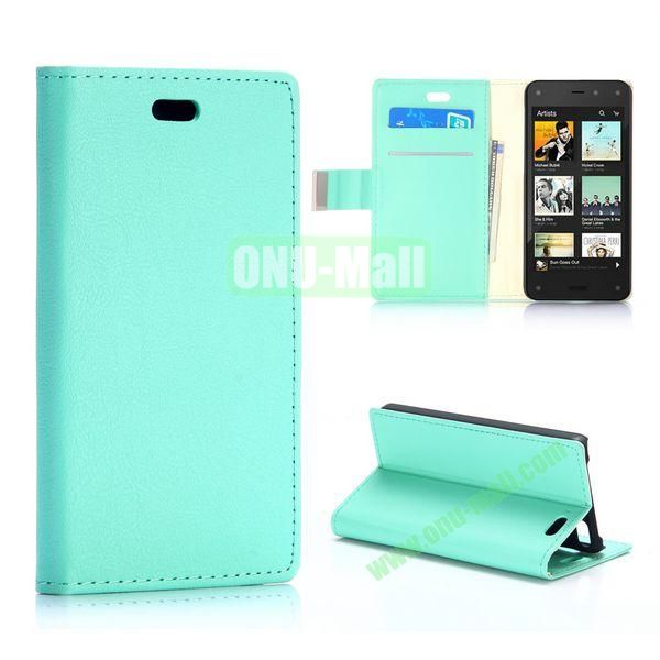 Fine Sheep Lines Pattern Wallet Leather Case For Amazon Fire Phone (Mint Green)