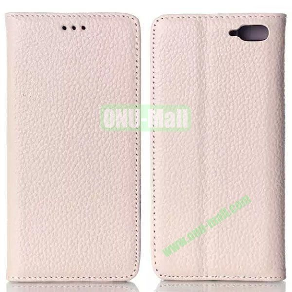 Litchi Texture Flip Leather Case for Amazon Fire Phone with Card Slots (White)