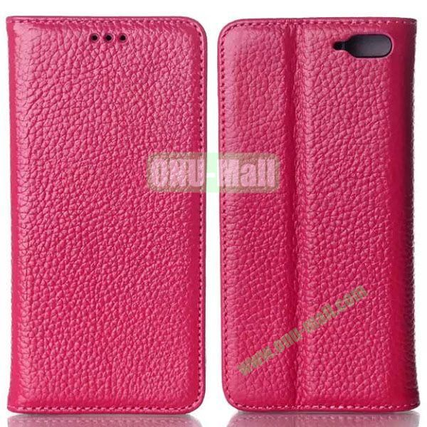 Litchi Texture Flip Leather Case for Amazon Fire Phone with Card Slots (Rose)