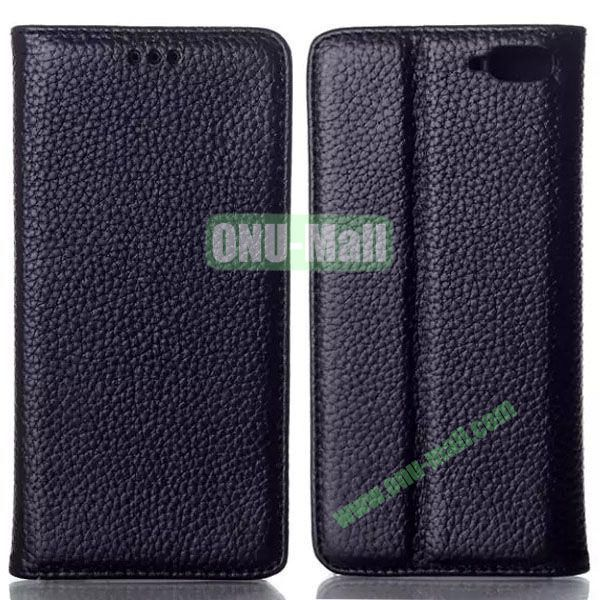 Litchi Texture Flip Leather Case for Amazon Fire Phone with Card Slots (Black)
