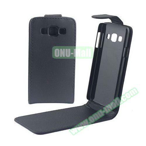 Vertical Flip Stand Leather Case for Samsung Galaxy A3 (Black)