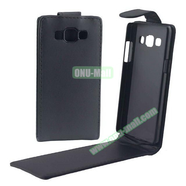 Vertical Flip Stand Leather Case for Samsung Galaxy A5 (Black)
