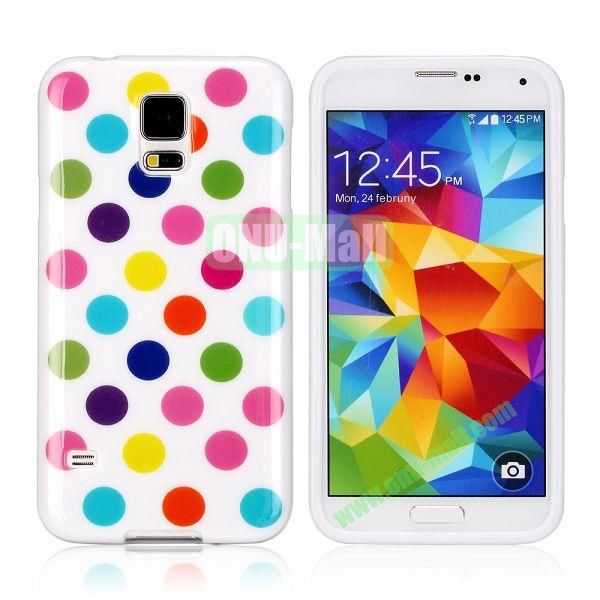 Fashionable Polka Dots Glossy TPU Case Cover for Samsung Galaxy S5i9600 (Colorful)