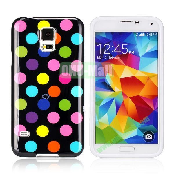 Fashionable Polka Dots Glossy TPU Case Cover for Samsung Galaxy S5i9600 (Colorful Dots)