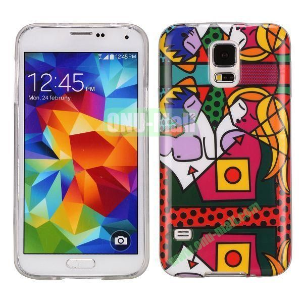 Cartoon Pattern TPU Back Cover Case For Samsung Galaxy S5 i9600 G900