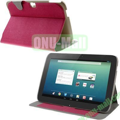Cloth Texture Flip Leather Case for Google Nexus 10 with Wake-up Function (Rose)