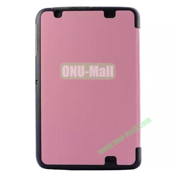 3-folding Crazy Horse Texture Flip Leather Case for LG G Pad 10.1 V700 (Pink)
