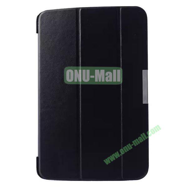 3-folding Crazy Horse Texture Flip Leather Case for LG G Pad 10.1 V700 (Black)
