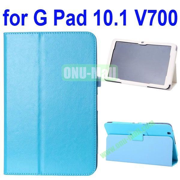 Crazy Horse Texture Flip Stand Leather Case for LG G Pad 10.1 V700 (Blue)