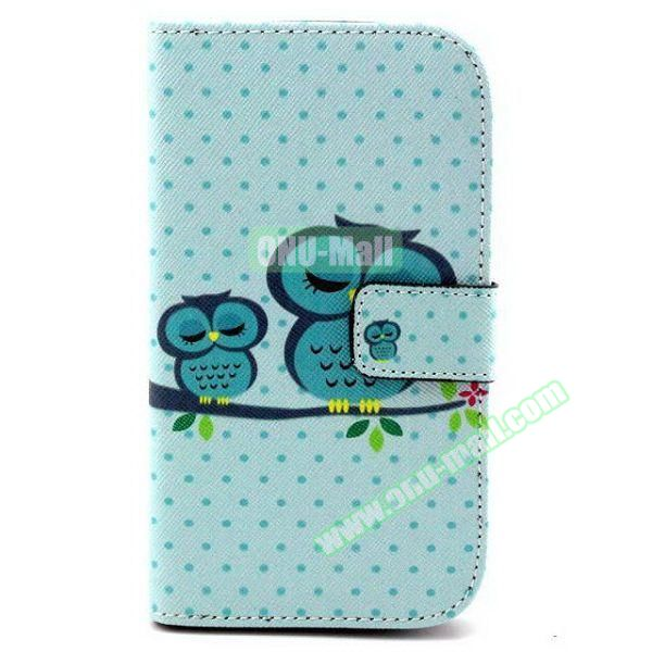 Personalized Design Flip Leather Case for Samsung Galaxy Grand Neo (Sleeping Owls)