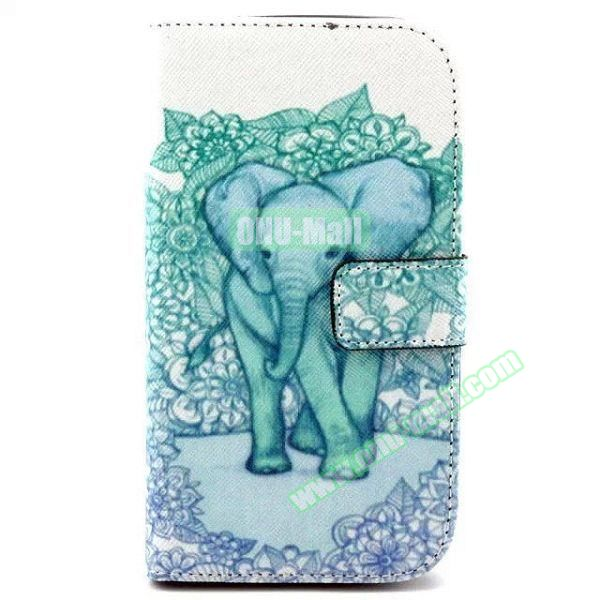 Personalized Design Flip Leather Case for Samsung Galaxy Grand Neo (Cute Elephant)