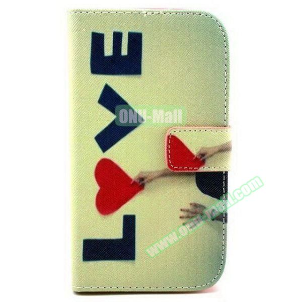 Personalized Design Flip Leather Case for Samsung Galaxy Grand Neo (LOVE)