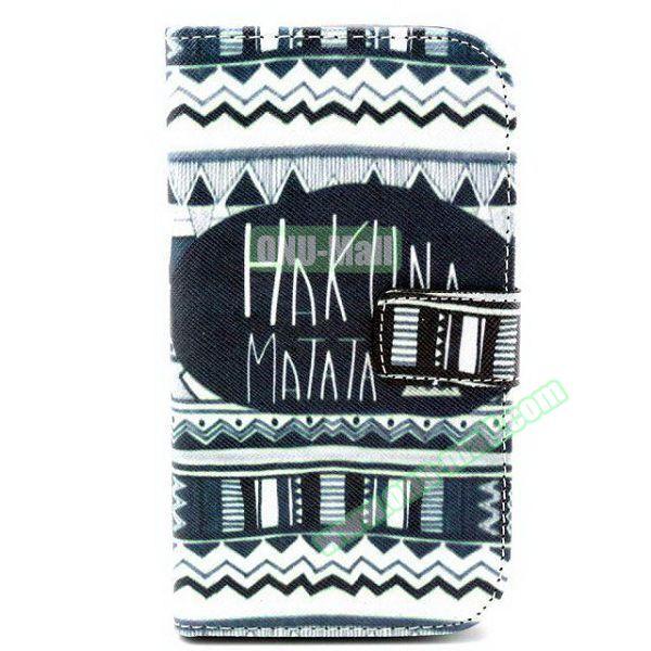 Personalized Design Flip Leather Case for Samsung Galaxy Grand Neo (Hakuna Matata)