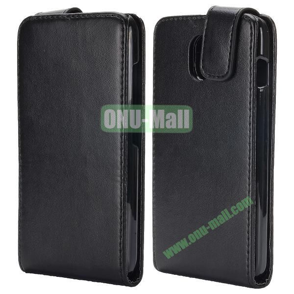 Vertical Flip PU Leather Case for HTC Desire 210 (Black)