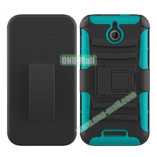 Kickstand Heavy Duty Hybrid PC and Silicone Rugged Protective Case for HTC Desire 510 (Navy)