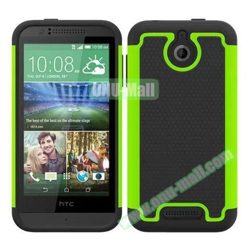 Football Pattern Hybrid PC and Silicone Rugged Protective Case for HTC Desire 510 (Green)