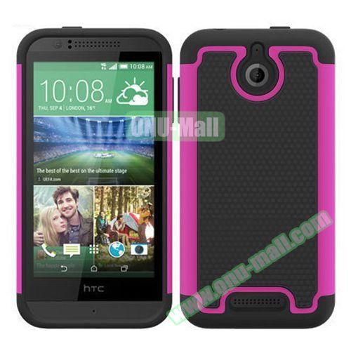 Football Pattern Hybrid PC and Silicone Rugged Protective Case for HTC Desire 510 (Rose)
