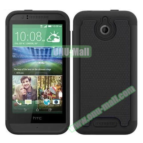 Football Pattern Hybrid PC and Silicone Rugged Protective Case for HTC Desire 510 (Black)