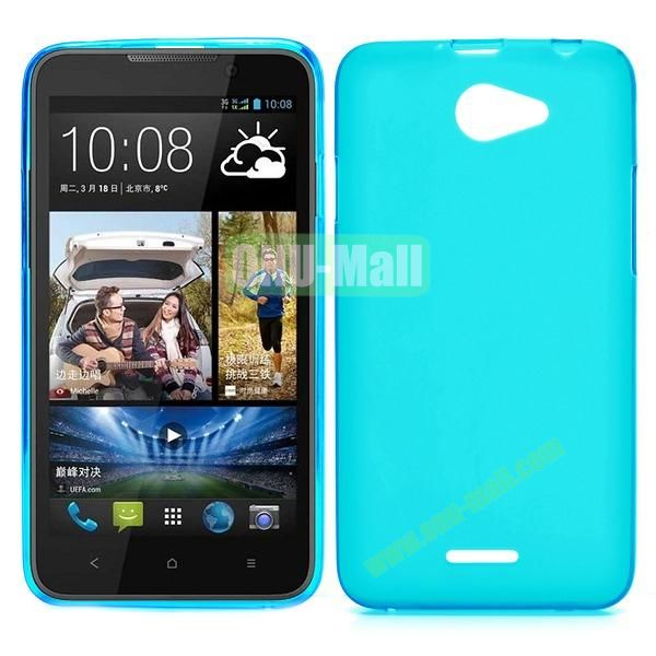 Factory Price Smooth TPU Case for HTC Desire 516 D516W (Baby Blue)