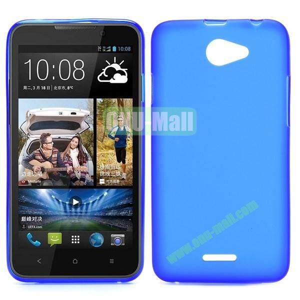 Factory Price Smooth TPU Case for HTC Desire 516 D516W (Blue)