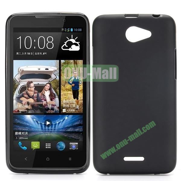 Factory Price Smooth TPU Case for HTC Desire 516 D516W (Black)