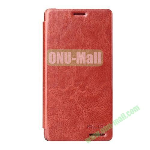 Ultrathin KLD England Series Flip Leather Case for HTC Desire 600  606w (Brown)