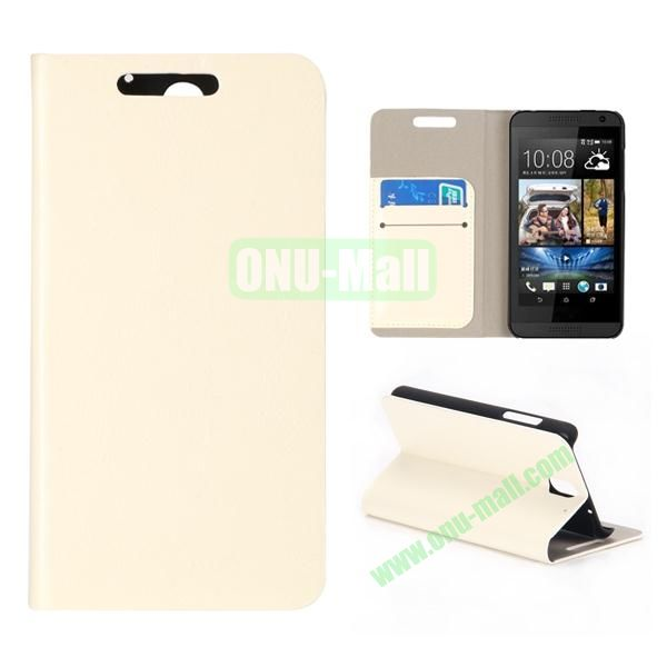 Crystal Texture Wallet Style PU Leather Case for HTC Desire 610 (Beige)
