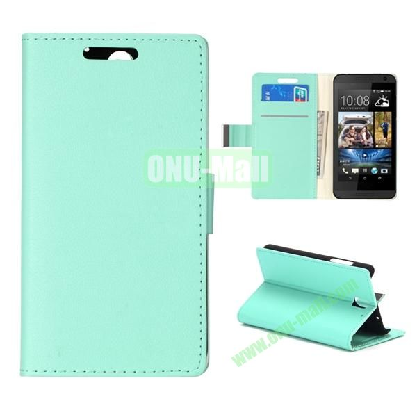 Wallet Style Foldable PU Leather Case for HTC Desire 610 (Green)