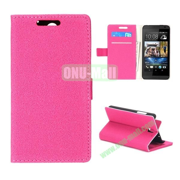 Gravel Texture Flip Foldable PU Leather Case for HTC Desire 610 (Rose)