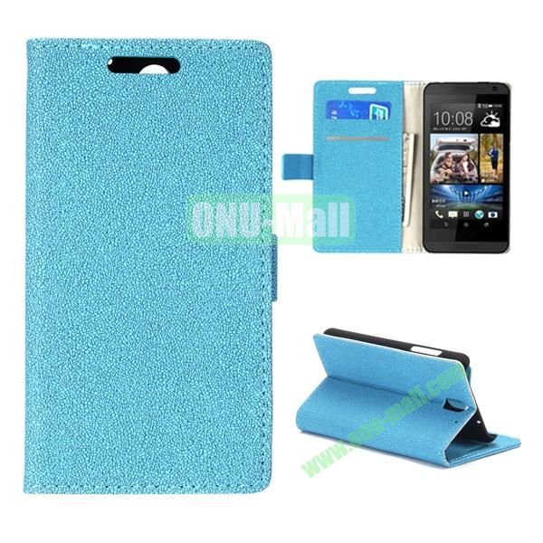 Gravel Texture Flip Foldable PU Leather Case for HTC Desire 610 (Light Blue)