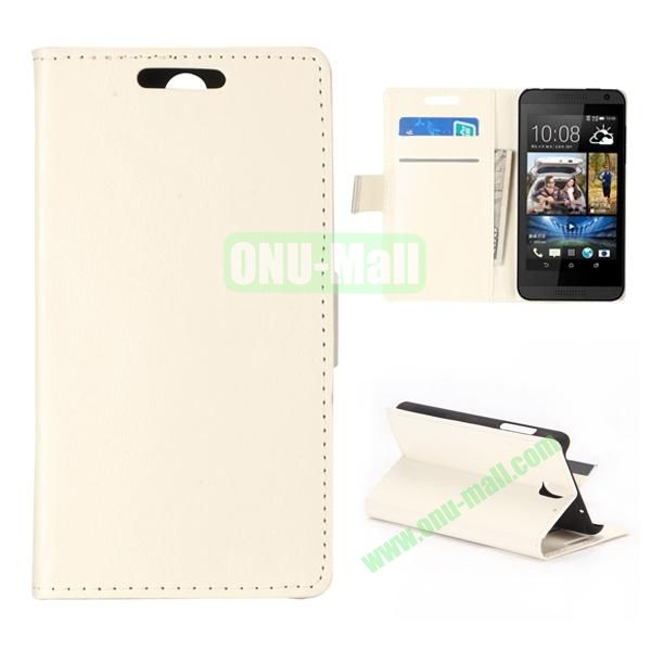 Crystal Texture Wallet Style PU Leather Case for HTC Desire 610 (White)