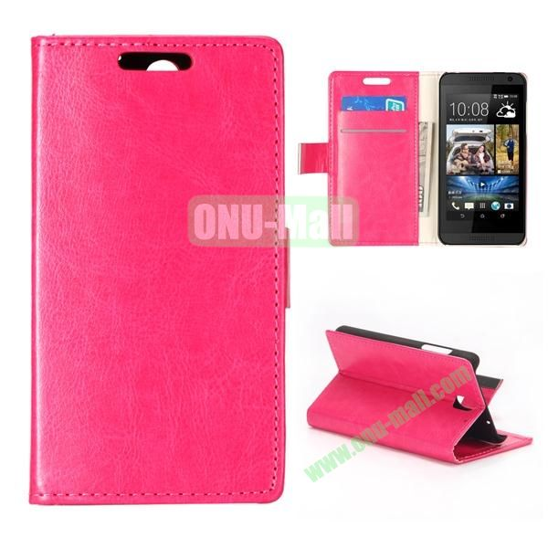 Crystal Texture Wallet Style PU Leather Case for HTC Desire 610 (Rose)