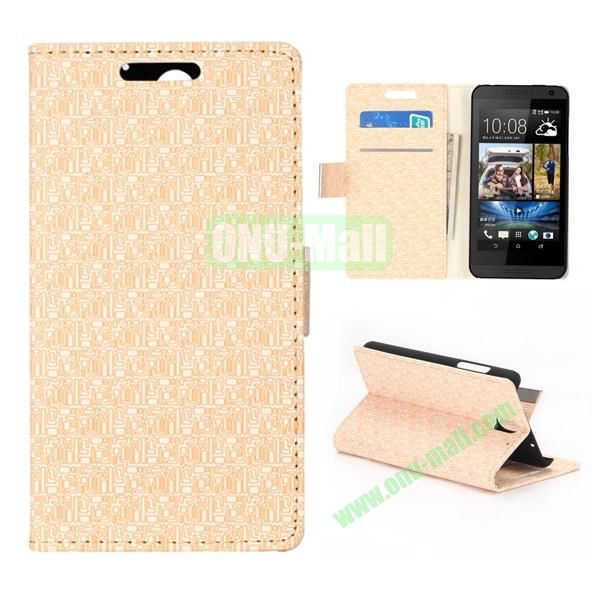 Maze Pattern Flip Stand Leather Case for HTC Desire 610 (White)