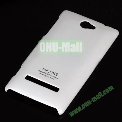 Ultra Thin Glossy PC Hard Case  for HTC 8S A620E (White)