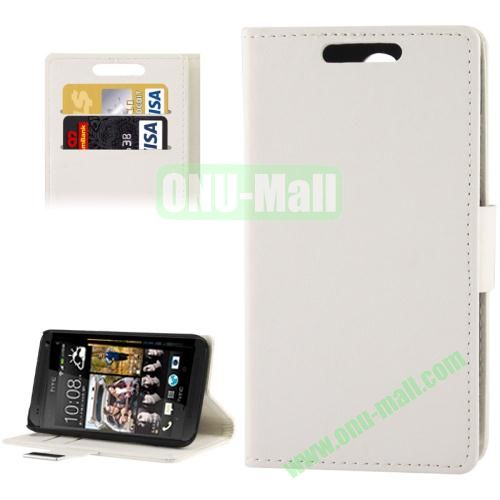 Litchi Texture Leather Case for HTC Desire 300  Zara mini with Credit Card Slot & Holder