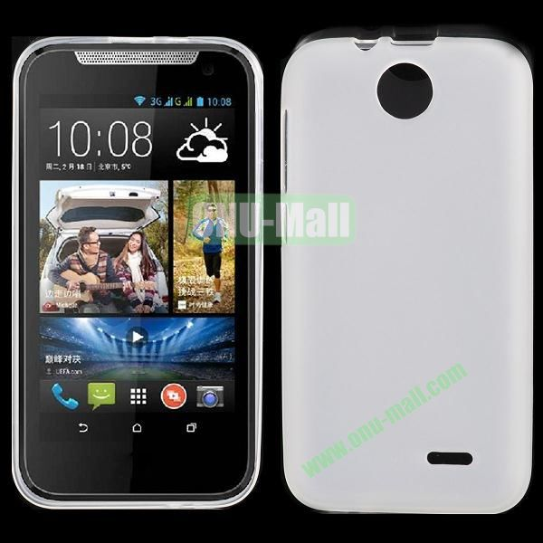 Factory Price Smooth TPU Case for HTC Desire 310 (White)
