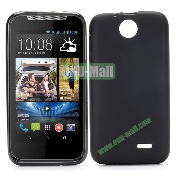 Factory Price Smooth TPU Case for HTC Desire 310 (Black)