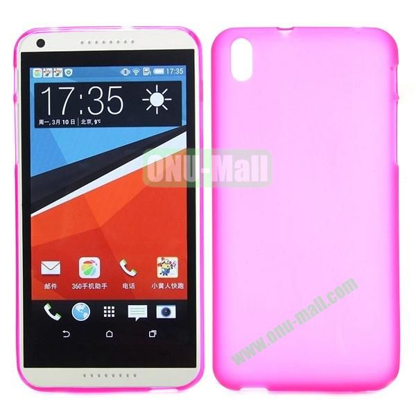 Ultrathin Smooth TPU Case for HTC Desire 816 800 (Rose)
