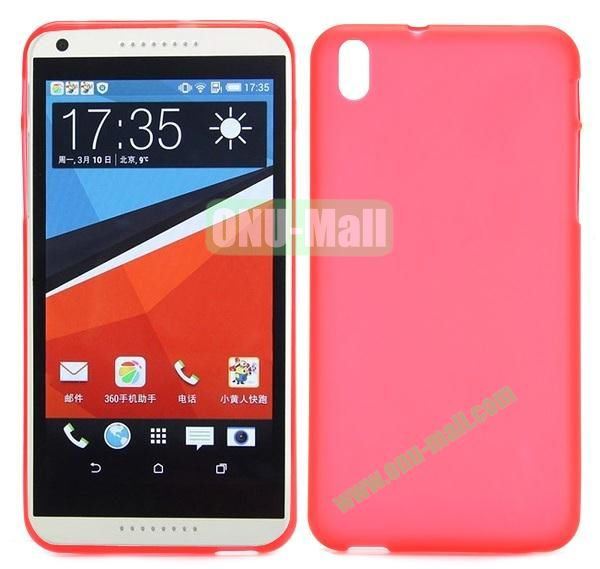 Ultrathin Smooth TPU Case for HTC Desire 816 800 (Red)