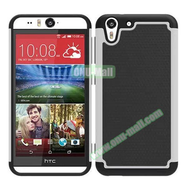 Football Pattern Hybrid Silicone and PC Rugged Protective Case for HTC Desire Eye (White)