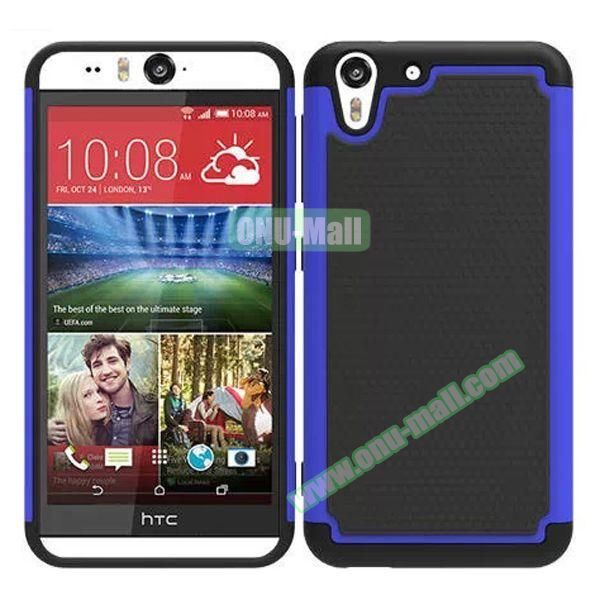 Football Pattern Hybrid Silicone and PC Rugged Protective Case for HTC Desire Eye (Dark Blue)