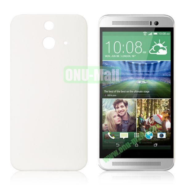 Pure Color Rubberized Coating Hard Plastic Case for HTC One E8 Ace (White)